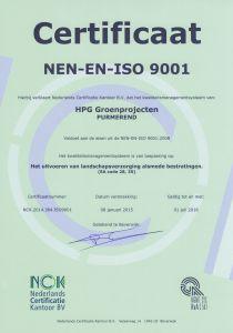 certificeringen hoveniersbedrijf ISO
