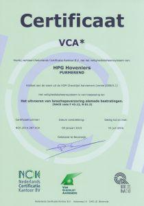 certificeringen hoveniersbedrijf VCA