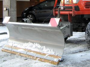 sneeuwruimen parkeerterrein