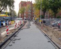 terreininrichting hotel Amsterdam, aanleg bestrating en riolering