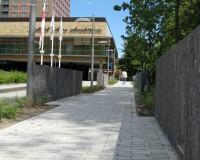 bestrating natuurstenen voetpad Amsterdam