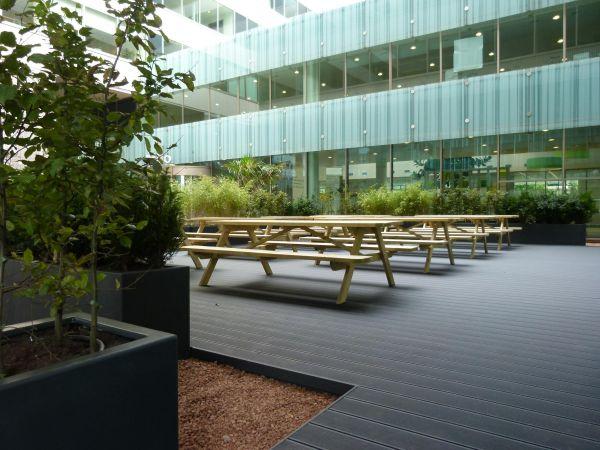 Dakterras kantoor amsterdam vlonderterras plantenbakken - Kantoor lijnen ...