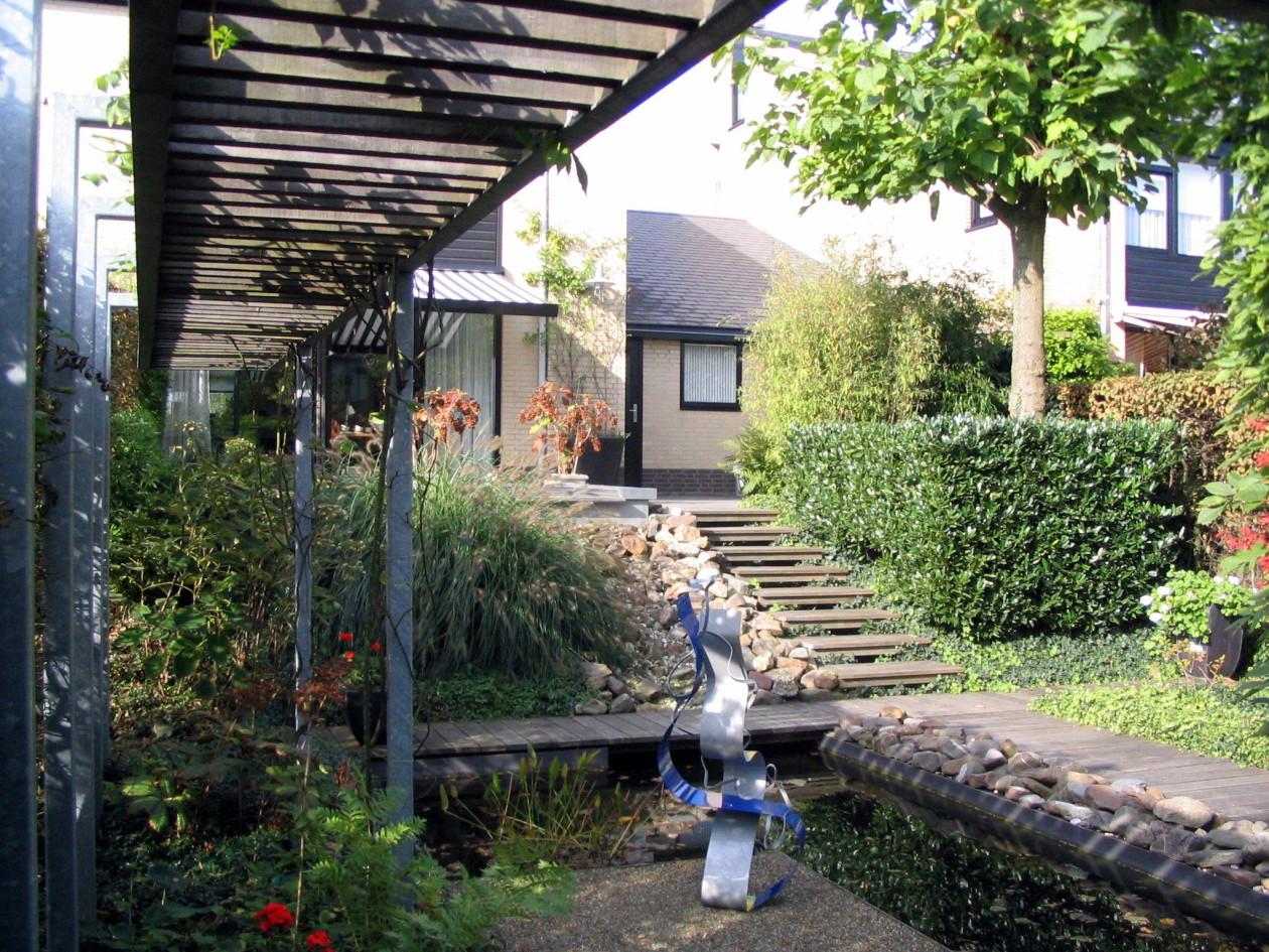 Vijver tuin rotterdam met waterval for De tuinen rotterdam