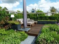 tuin met vlonderterras