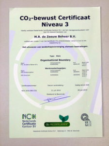 CO2-prestatieladder: certificaat CO2-bewust