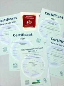 certificeringen HPG