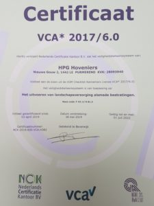 VCA HPG Hoveniers BV